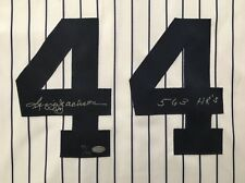 """REGGIE JACKSON SIGNED AUTO AUTOGRAPHED INSCRIBED """"563 HRs"""" JERSEY NY YANKEES"""