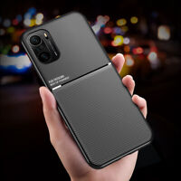 For Xiaomi POCO F3, Luxury Shockproof Magnetic Leather Fell Soft Case Cove
