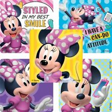 Minnie Mouse Stickers x 5 - Minnie Mouse Birthday Party Favours - School Covers