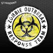 "ZOMBIE OUTBREAK RESPONSE TEAM Sticker ""Grunge""  Biohazard Vinyl Decal #FS917"