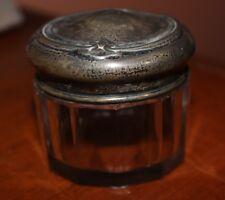 Vintage Sterling and Glass Trinket Vanity Jar