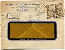 1951 Italia al Lavoro RACCOMANDATA Amiderie F.ll Gadda - Fagnano Olona