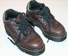 Pre-Worn Unisex Doc Martens Brown/Black Lace-Up Low Boots UK sz 3, M/Y 4, W 5