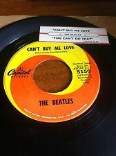 Beatles 45  Can't Buy Me Love WITH JUKE BOX STRIP