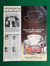 PV6 Pubblicità Advertising Werbung Clipping (1970) 34x27 - BUONDI' MOTTA