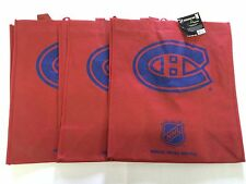 3 Montreal Canadiens Reusable Green Shopping Grocery Bags NEW NHL