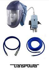 Air Fed Mask HVLP 10mt Hose Like Devilbiss MPV 623 Visor Belt Breathing Air Set