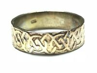 Vintage Ladies Solid Sterling Silver Ring Band - Size 8 - FREE SHIPPING