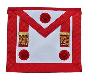 Masonic Scottish Rite Master Mason Apron Lambskin Leather with Pocket Regalia