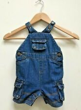 Baby Boys John Lewis Denim Dungarees Shorts Age 3-6 Months Excellent Condition