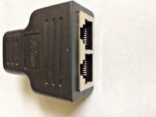 New 1 to 2 LAN ethernet Network RJ45 Splitter Extender Plug Adapter Connector