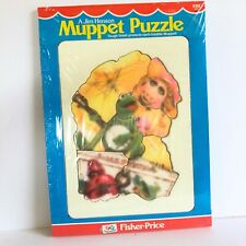 Fisher Price 1981 Muppets Kermit Piggy Banjo Tough Finish Tray Puzzle #543 NOS