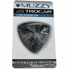 NEW Muzzy Products 292 Trocar Crossbow 100 Grain Broadheads (3 Pack)