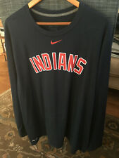 Cleveland Indians 2XL Long Sleeve Nike Dri-Fit Shirt