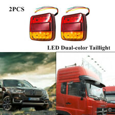 A Pair 12V Car Trailer Boat LED Taillight Stop Indicator Tail Brake Bright Light