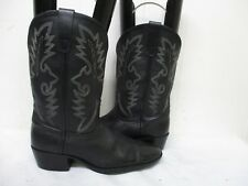 Dan Post Black Leather Cowboy Boots Youth Size 5 Style DPC3001