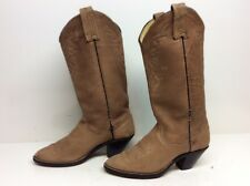 WOMENS DAN POST COWBOY LEATHER BROWN BOOTS SIZE 6 M
