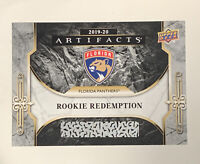 Florida Panthers 2019-20 Upper Deck UD Artifacts Rookie Redemption RC #RED193