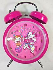 Hello Kitty + Mimmy Celebration Retro Double Bell Pink Alarm Clock - Sanrio