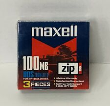 Maxell 100 MB DDS zip disks 3 set NEW in package computer