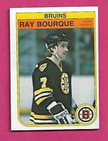 1982-83 OPC # 7  BRUINS RAY BOURQUE NRMT  CARD (INV# C5036)