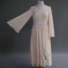 Asian Cos Play Princess Dress Costume Pink Kimono Flying Crane Embroidery XXS