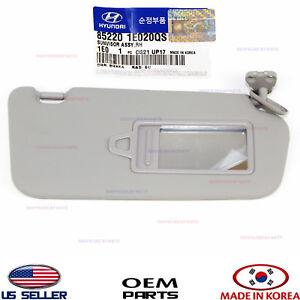 2006-2011 Hyundai Accent Sun Visor Passenger Right Side Sun Visors Gray OEM