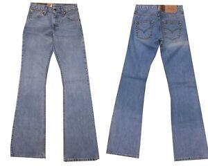 levis 516 jeans da donna a zampa elefante vita alta pantaloni w 26 40 scampanato