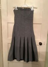 Topshop Women's Strapless Stripe Dress Size 6