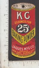 9440 KC Baking Powder string hanger die-cut trade card Jacques Co Kansas City