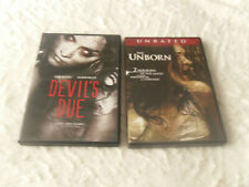 DEVIL'S DUE & THE UNBORN DVD BOTH IN LIKE NEW CONDITION * HALLOWEEN HORROR *