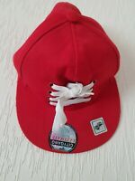CITY GANG ULTIMATE PREMIUM HEADWEAR WITH FRONT LACE UP CAP COLOUR RED, SIZE XL