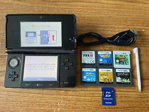 Nintendo 3DS Black Handheld System Console Bundle +6 Games & Charger