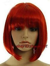 Wigs,rouge court raide animation Cosplay fête plein cheveux Bob