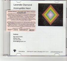 (FR525) Lavender Diamond, Incorruptible Heart - 2012 DJ CD