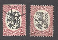 Finland - Scott'S # 101 And 102 - Used