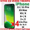 VITRE PROTECTION VERRE TREMPÉ FILM ÉCRAN POUR IPHONE 7 6S 5 X XR XS MAX 11 PRO