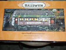 DEPT 56 HALLOWEEN VILLAGE HAUNTED RAILS DINING CAR NIB