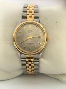 Citizen Men's Quartz Vintage Calendar Two/Tone Bracelet 100 MT 6110-845901 Watch