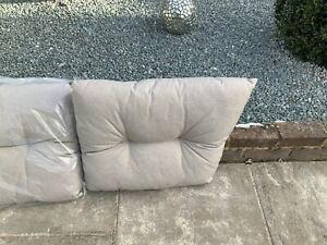 Alexander rose button type garden furniture sofa garden cushion fawn tapered