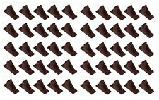 Brown Plastic Mini Roof Snow Ice Guard-50 PK |Prevent Sliding Snow Stop Buildup