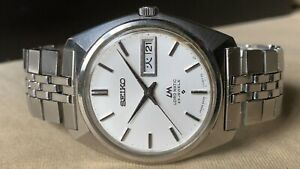 Vintage SEIKO Automatic Watch/ LORD MATIC LM 5606-7000 25J SS 1969 Original Band