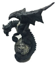 Dragon Sitting On Knights Helmet With Skull Figurine 1155g H30cm x W14cm.