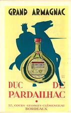 "ADVERTISEMENT "" Mini Poster "" Vineyard Wine Grand Armagnac Duc de Pardailhac MAP"