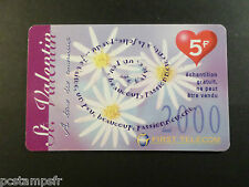 Phone Card France, First Telecom Valentines 2000, 5 Francs, Used, Phone Card