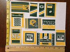13 Green Bay Packers Fabric Applique Iron On Ons