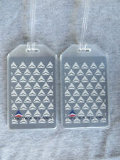 VINTAGE DELTA AIRLINES LUGGAGE TAGS - 2-TAG SET - RARE DOVE - BAG NAME TRIP ID