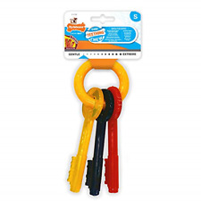 Nylabone Gentle Puppy Dog Teething Chew Toy Keys, Bacon Flavour, Small Free Post