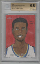 STEPHEN CURRY 2018 LEAF SKETCH TRUE 1/1 BGS 9.5   ##FREE COMBINED SHIPPING