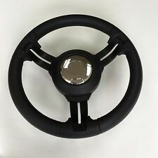 New Gussi Boat Steering Wheel MCC1 Black Urethane Rim & Center Pad